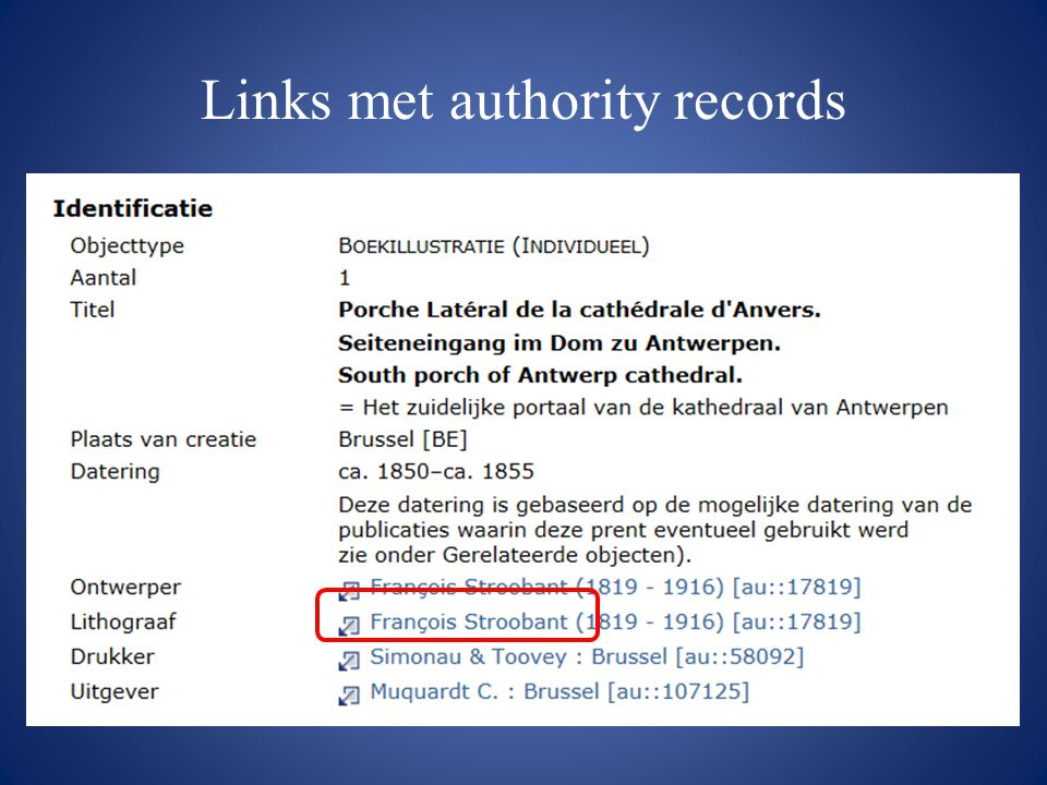 Links met authority records