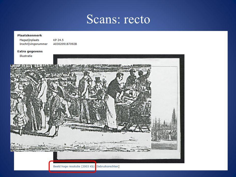 Scans: recto