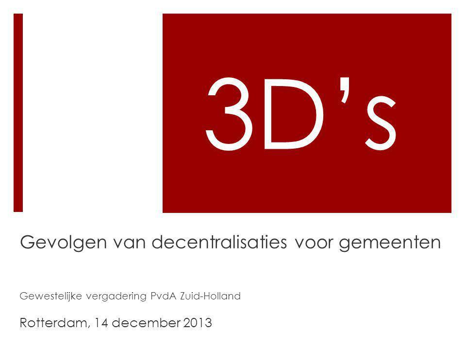 3D's Gevolgen van decentralisaties voor gemeenten