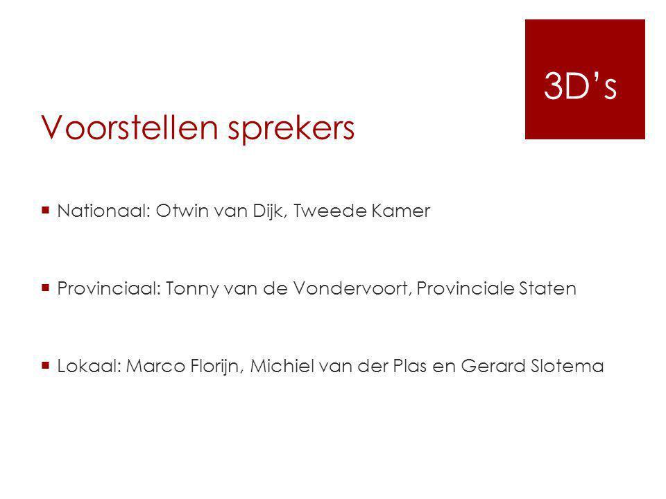 3D's Voorstellen sprekers Nationaal: Otwin van Dijk, Tweede Kamer