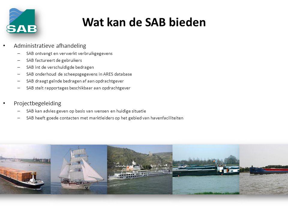Wat kan de SAB bieden Administratieve afhandeling Projectbegeleiding