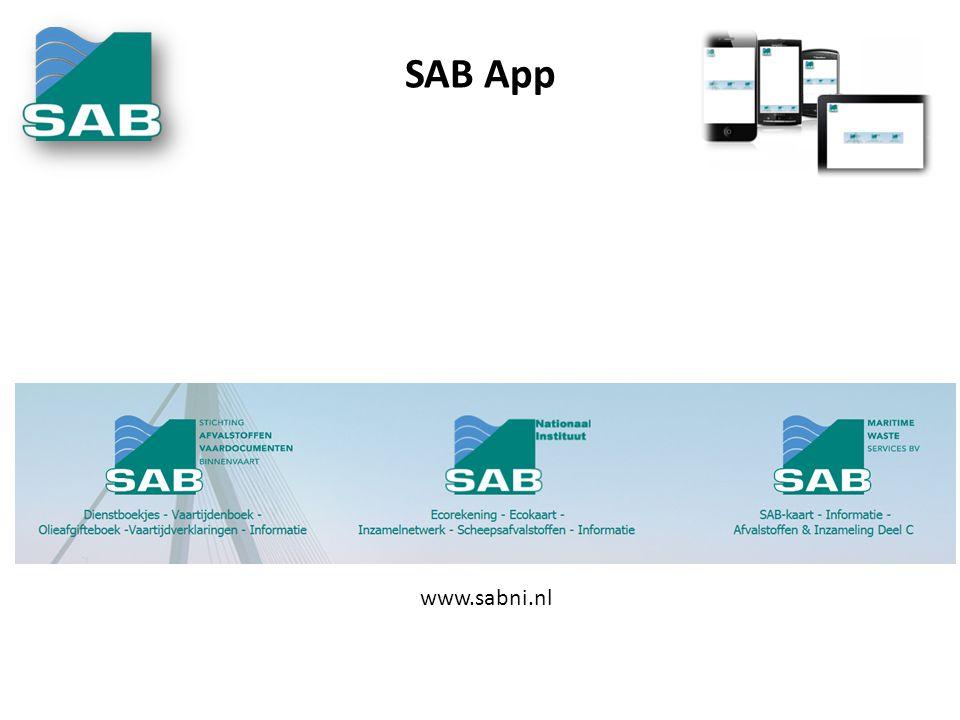 SAB App www.sabni.nl