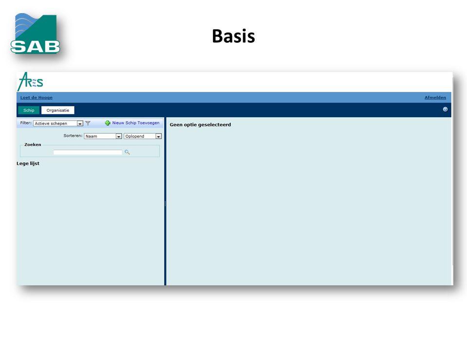 Basis De basis is een goede uitgebreide registratie in een database.