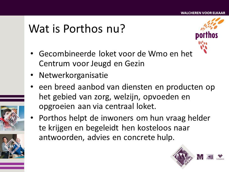 Wat is Porthos nu Gecombineerde loket voor de Wmo en het Centrum voor Jeugd en Gezin. Netwerkorganisatie.
