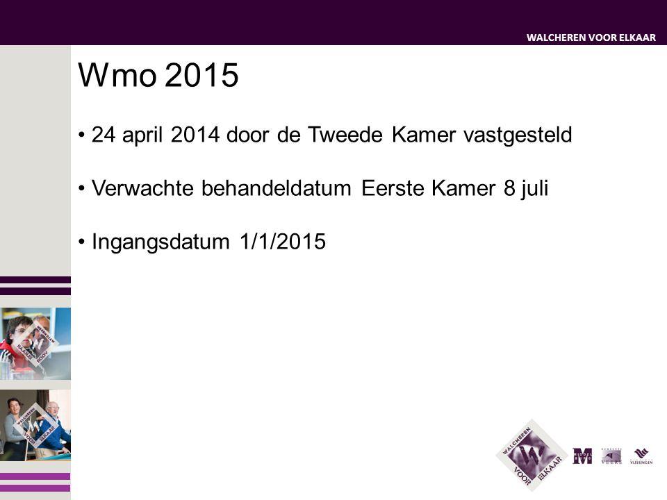 Wmo 2015 24 april 2014 door de Tweede Kamer vastgesteld