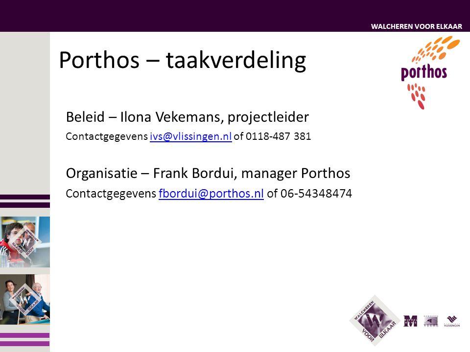 Porthos – taakverdeling