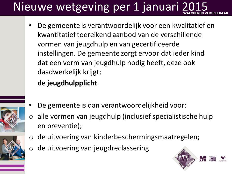 Nieuwe wetgeving per 1 januari 2015