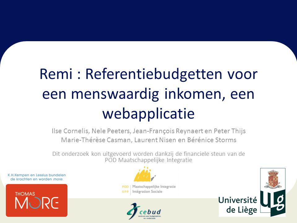 Remi : Referentiebudgetten voor een menswaardig inkomen, een webapplicatie