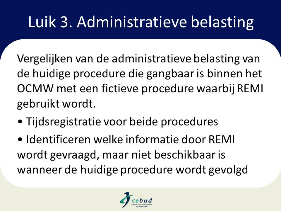 Luik 3. Administratieve belasting