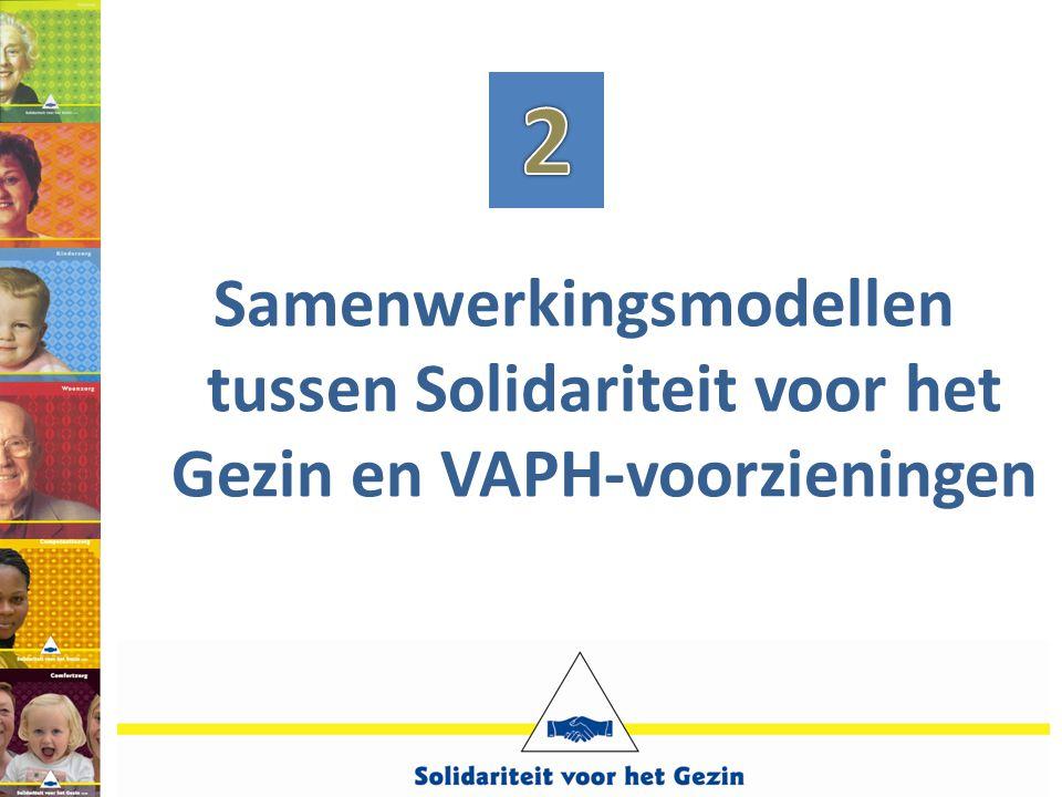 2 Samenwerkingsmodellen tussen Solidariteit voor het Gezin en VAPH-voorzieningen