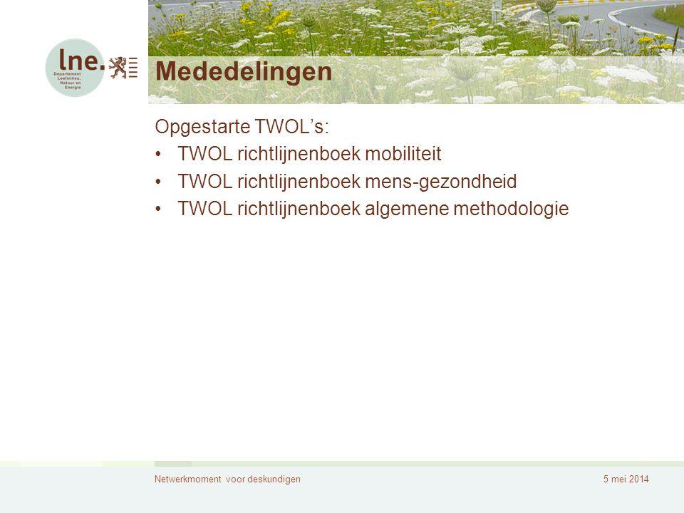Mededelingen Opgestarte TWOL's: TWOL richtlijnenboek mobiliteit