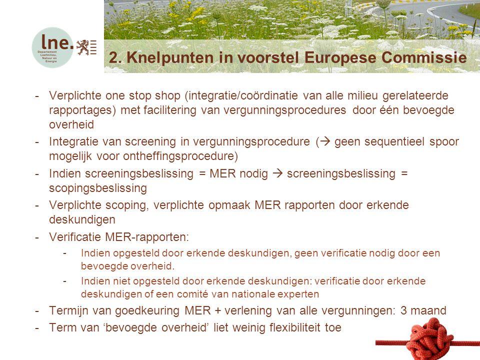 2. Knelpunten in voorstel Europese Commissie