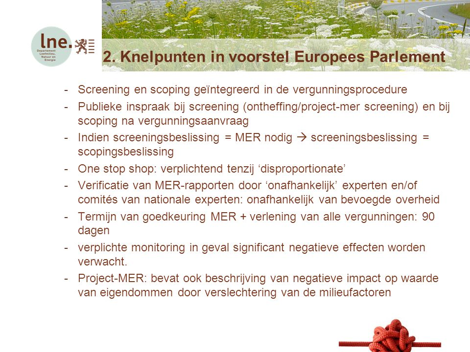 2. Knelpunten in voorstel Europees Parlement