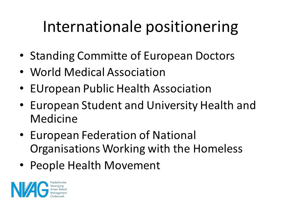 Internationale positionering