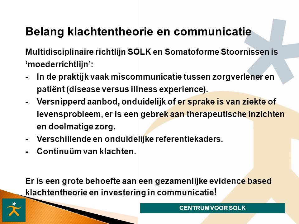 Belang klachtentheorie en communicatie