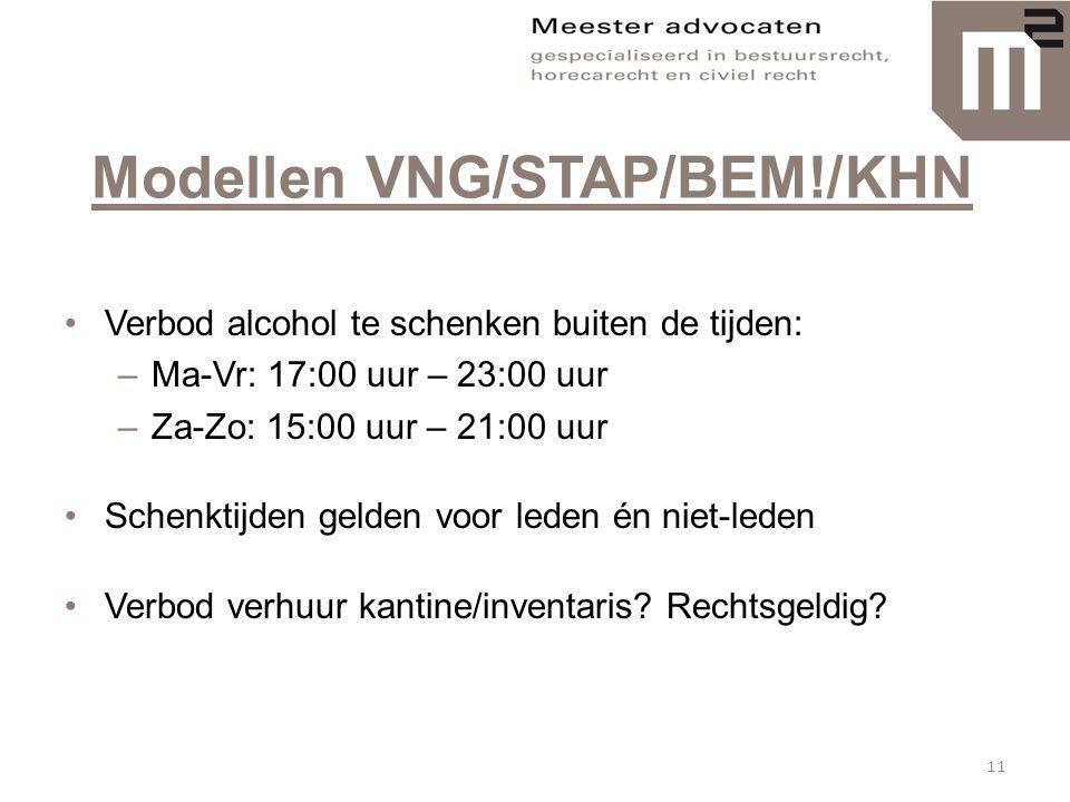 Modellen VNG/STAP/BEM!/KHN