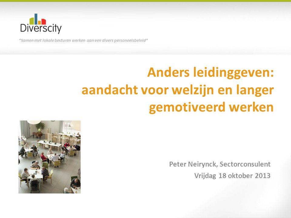 Peter Neirynck, Sectorconsulent Vrijdag 18 oktober 2013