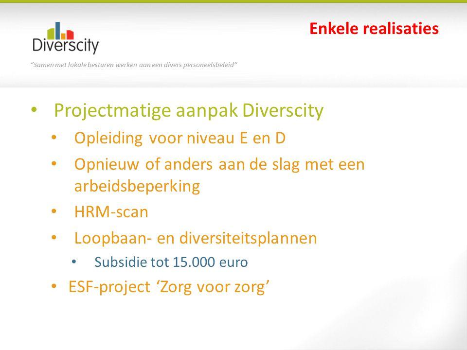 Projectmatige aanpak Diverscity