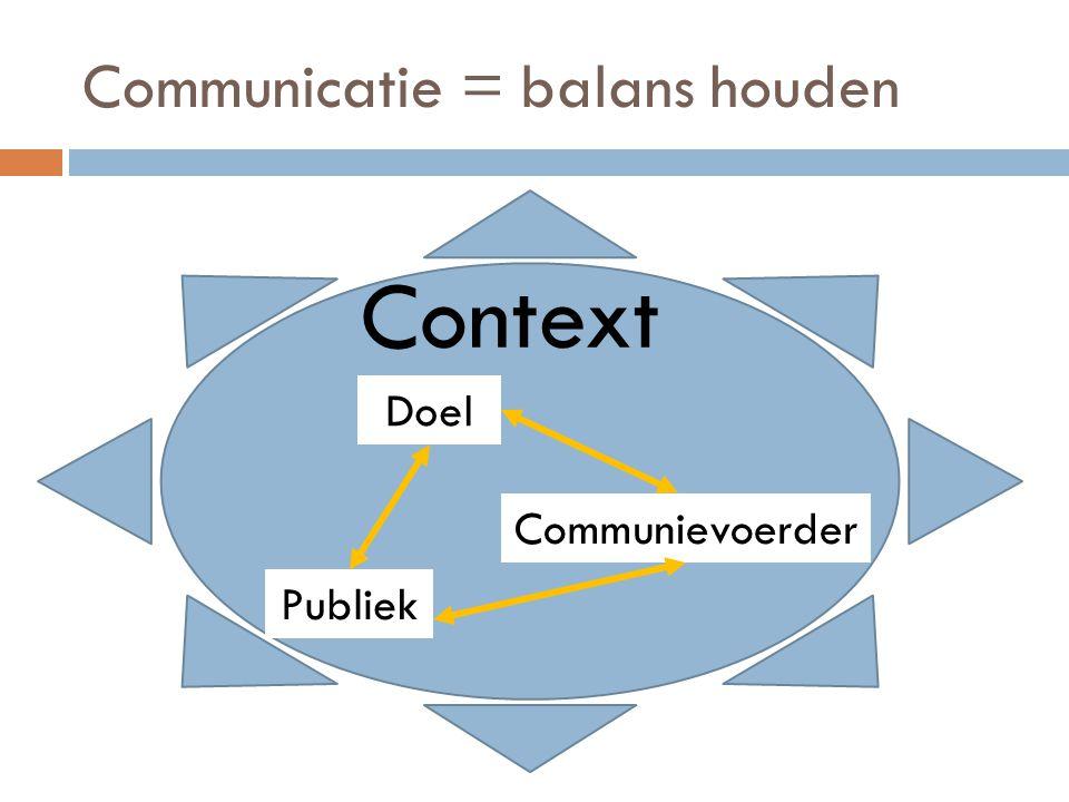 Communicatie = balans houden