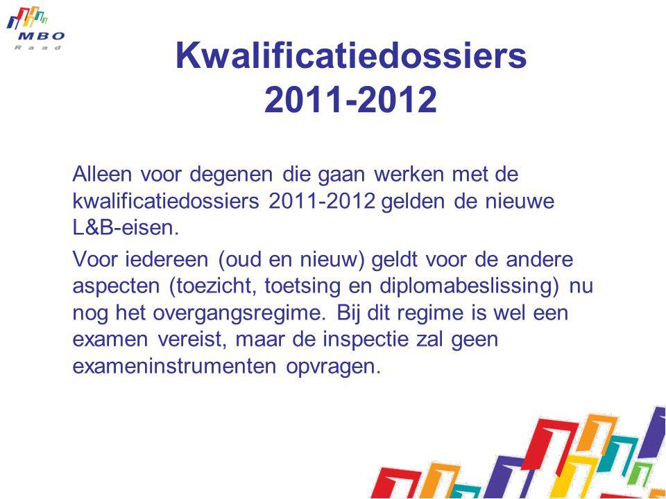 Kwalificatiedossiers 2011-2012