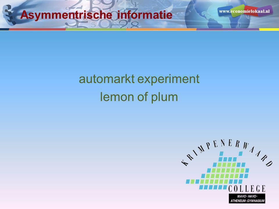 Asymmentrische informatie