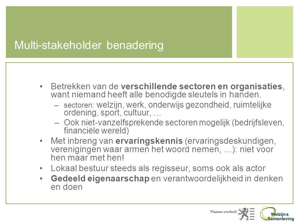 Multi-stakeholder benadering