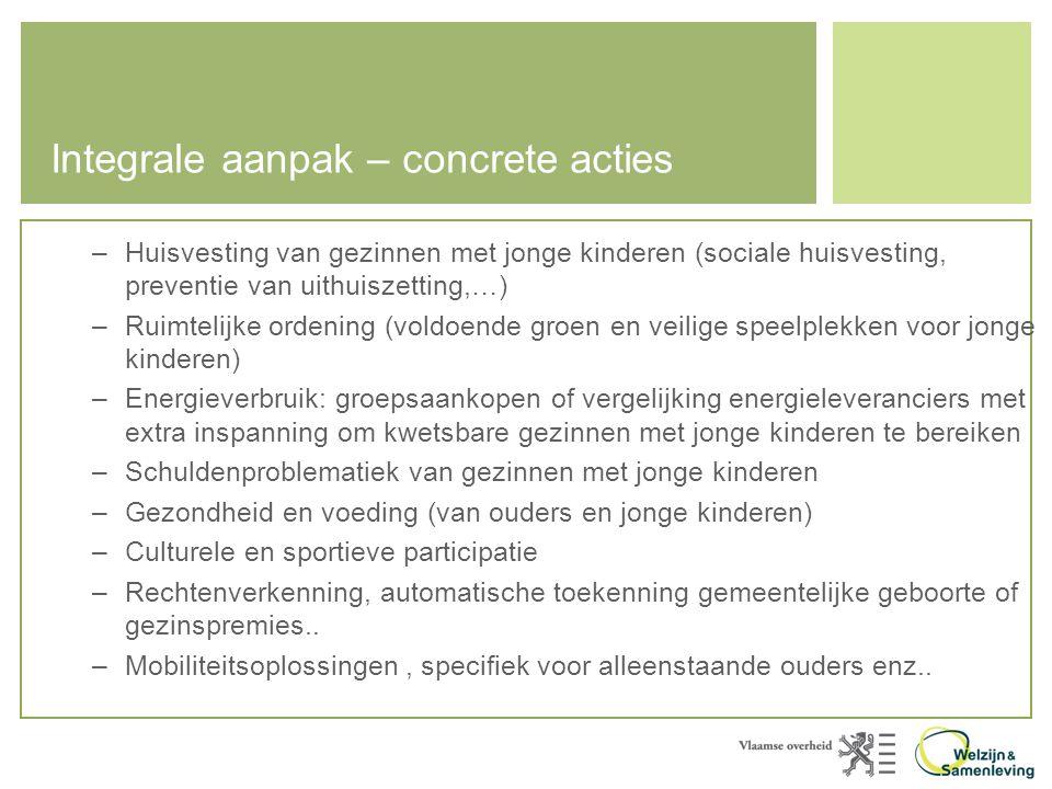 Integrale aanpak – concrete acties