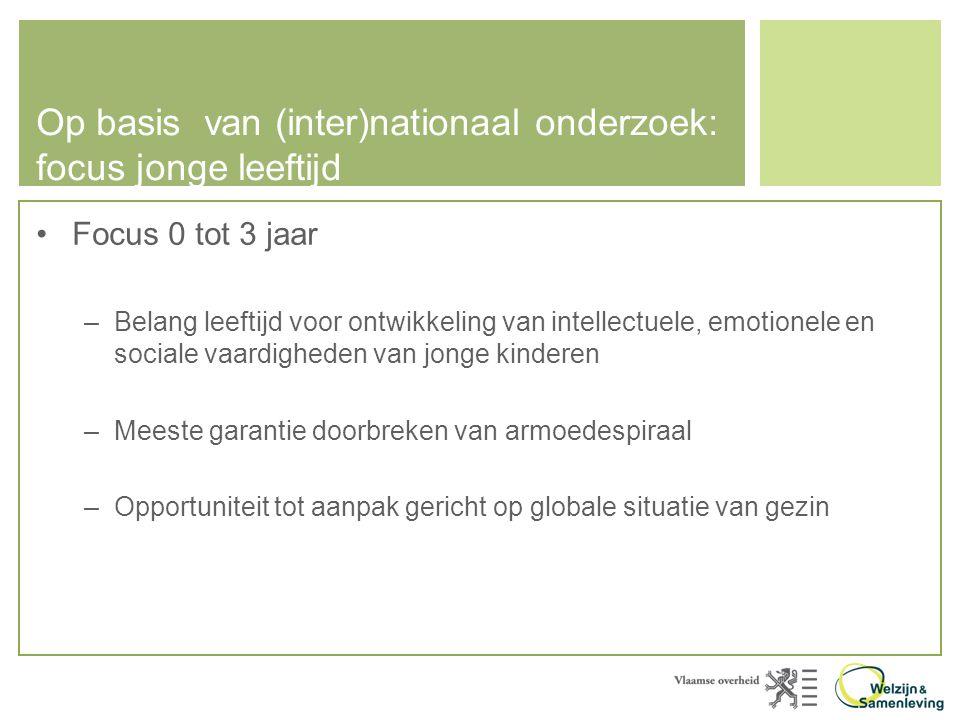 Op basis van (inter)nationaal onderzoek: focus jonge leeftijd