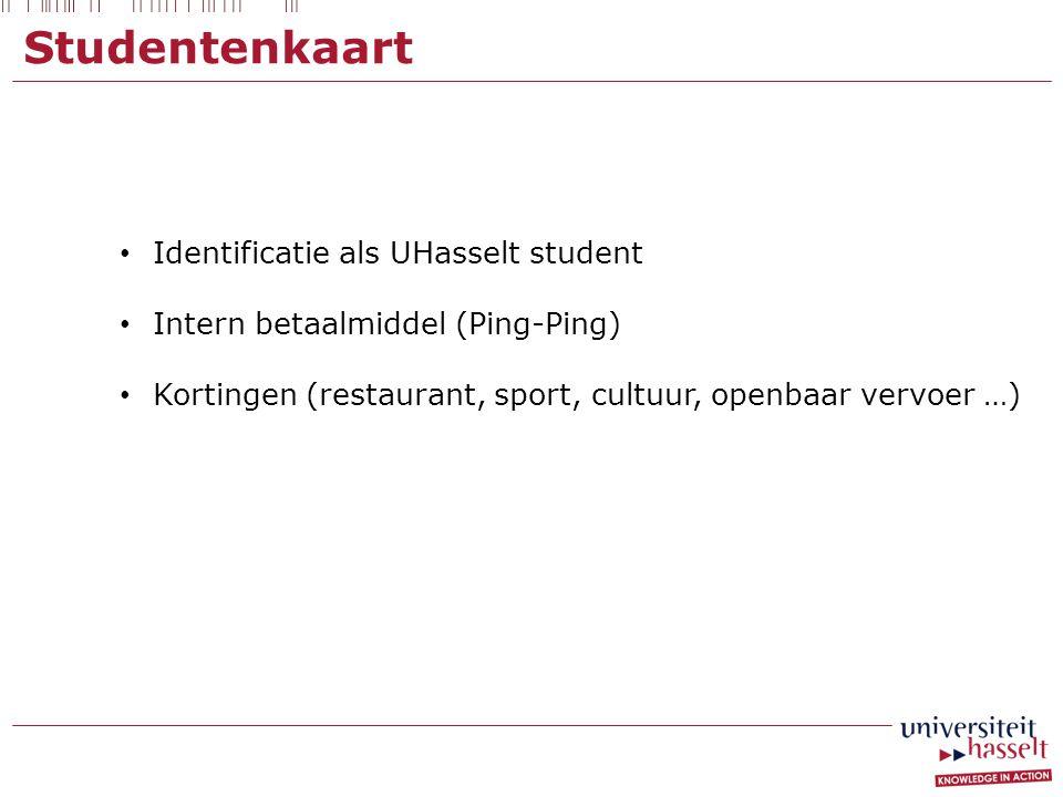 Studentenkaart Identificatie als UHasselt student
