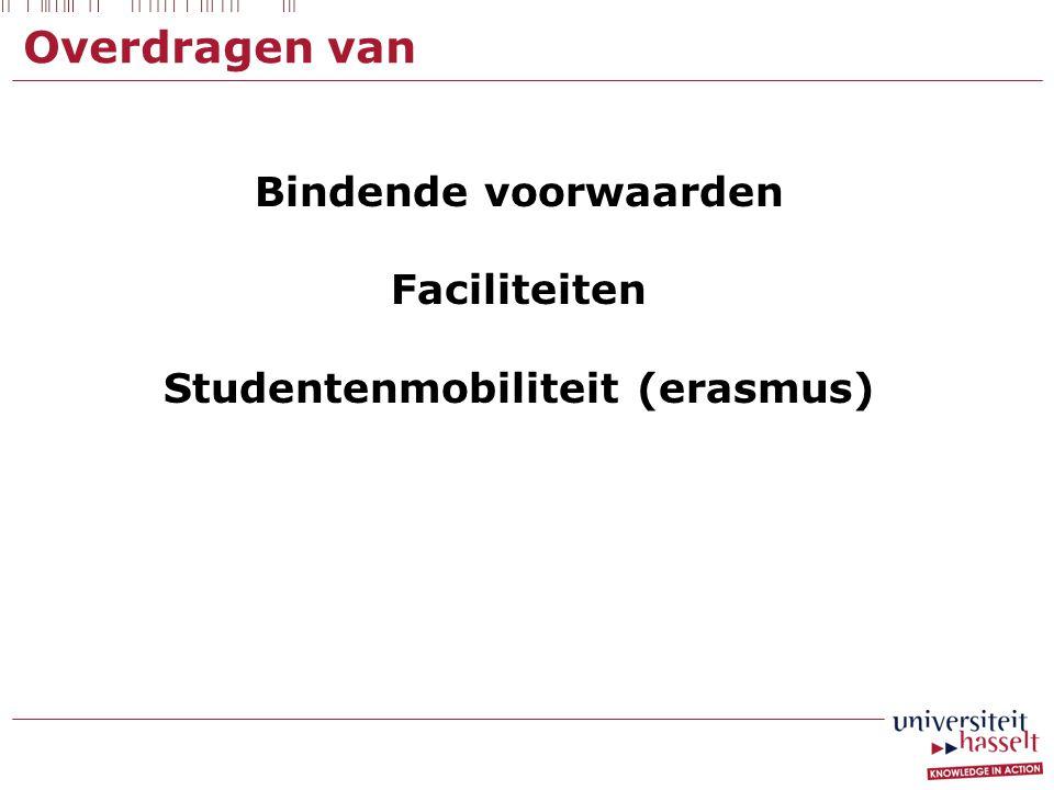 Studentenmobiliteit (erasmus)