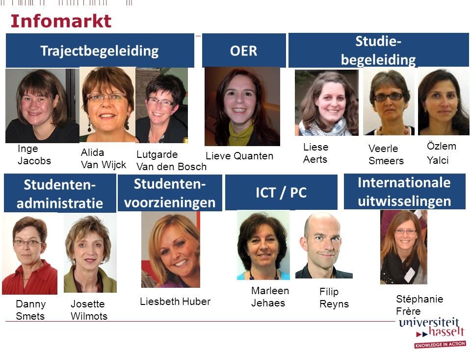 Infomarkt Trajectbegeleiding OER Studie- begeleiding Studenten-