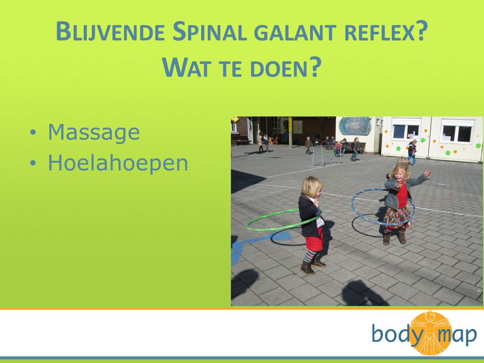 Blijvende Spinal galant reflex Wat te doen