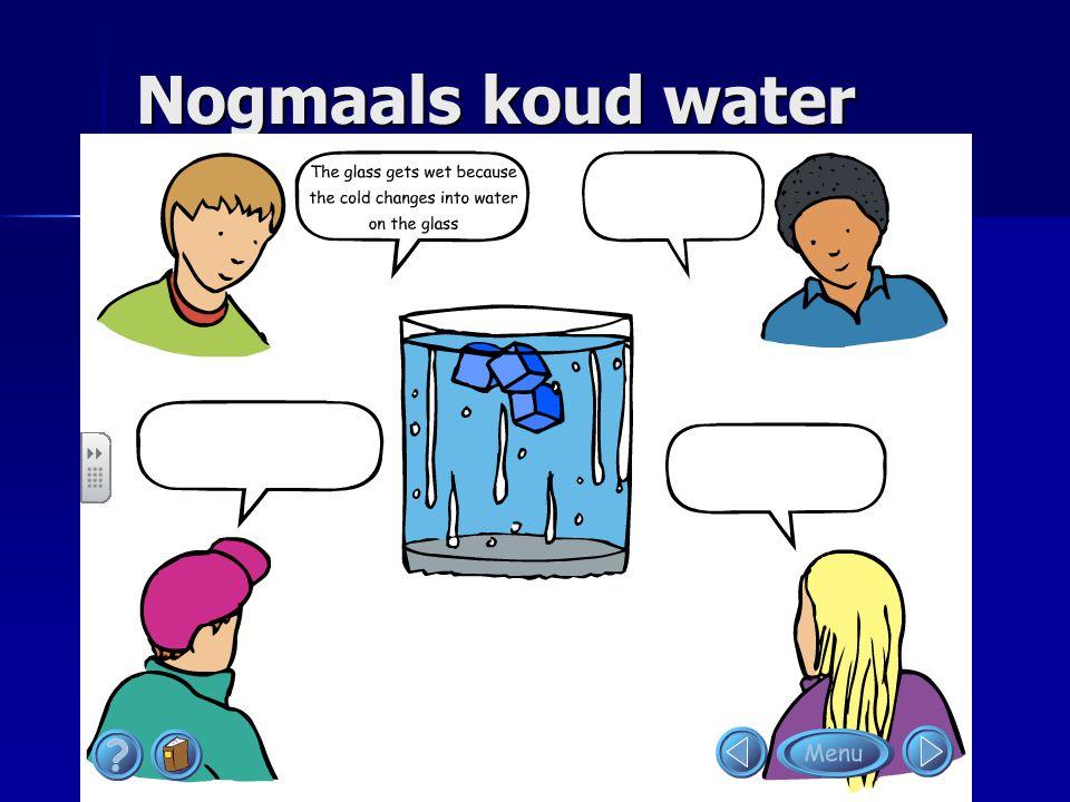 Nogmaals koud water Je kunt de cartoon ook zo presenteren en kinderen zelf de ballonnetjes laten invullen.