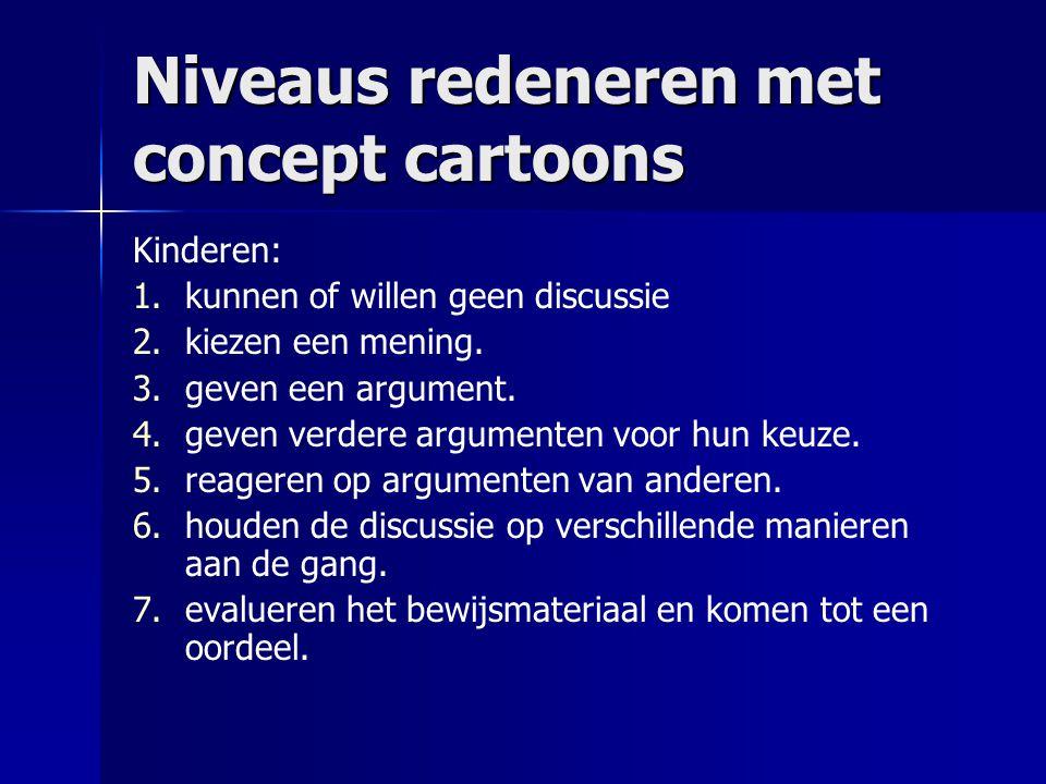 Niveaus redeneren met concept cartoons