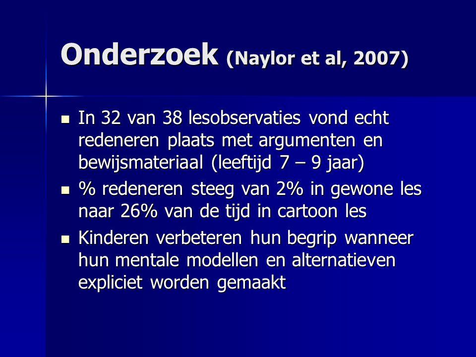 Onderzoek (Naylor et al, 2007)