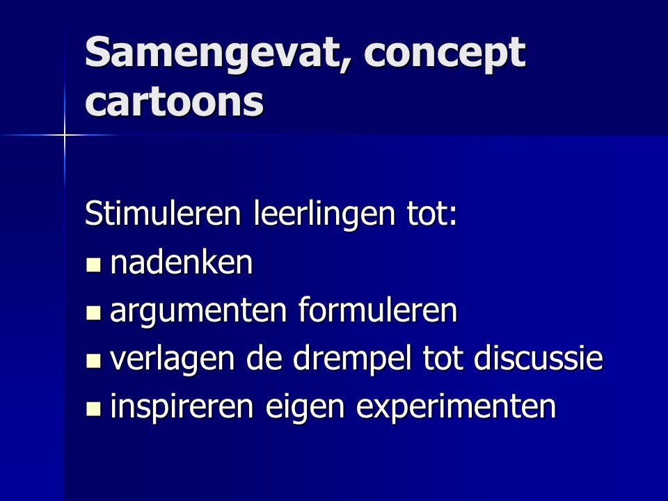 Samengevat, concept cartoons