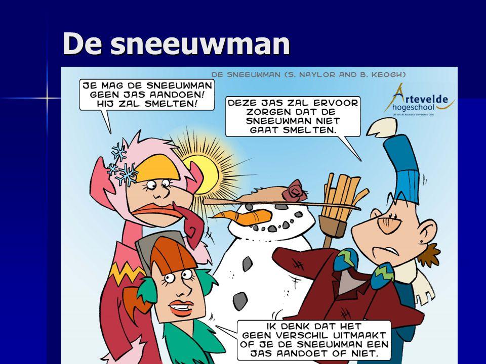 De sneeuwman Moderne cartoonfiguren die meer kunnen aanspreken.