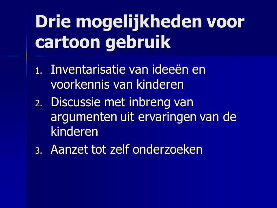 Drie mogelijkheden voor cartoon gebruik