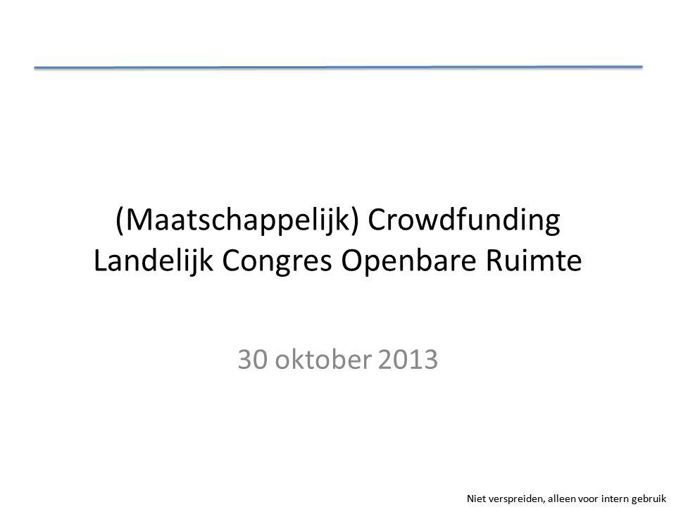 (Maatschappelijk) Crowdfunding Landelijk Congres Openbare Ruimte