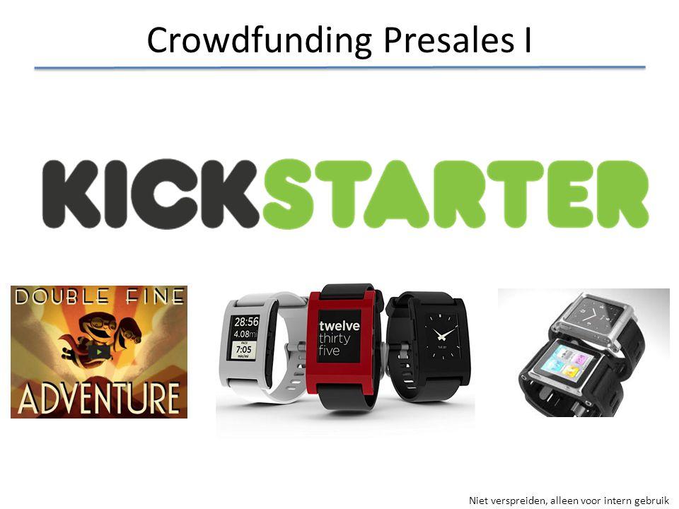 Crowdfunding Presales I