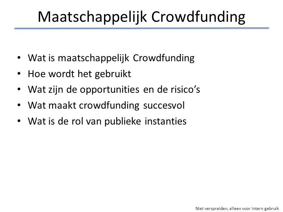 Maatschappelijk Crowdfunding