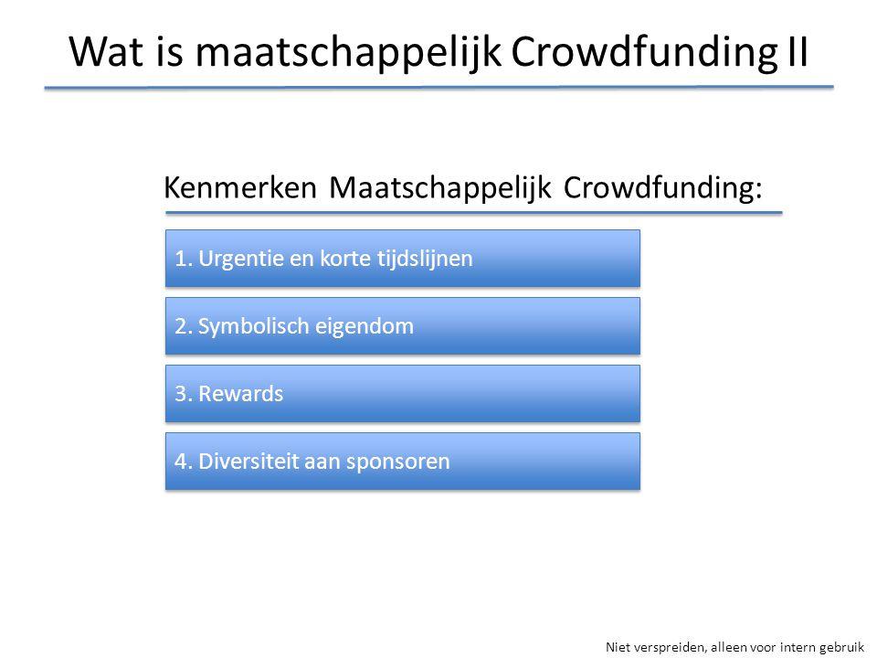 Wat is maatschappelijk Crowdfunding II