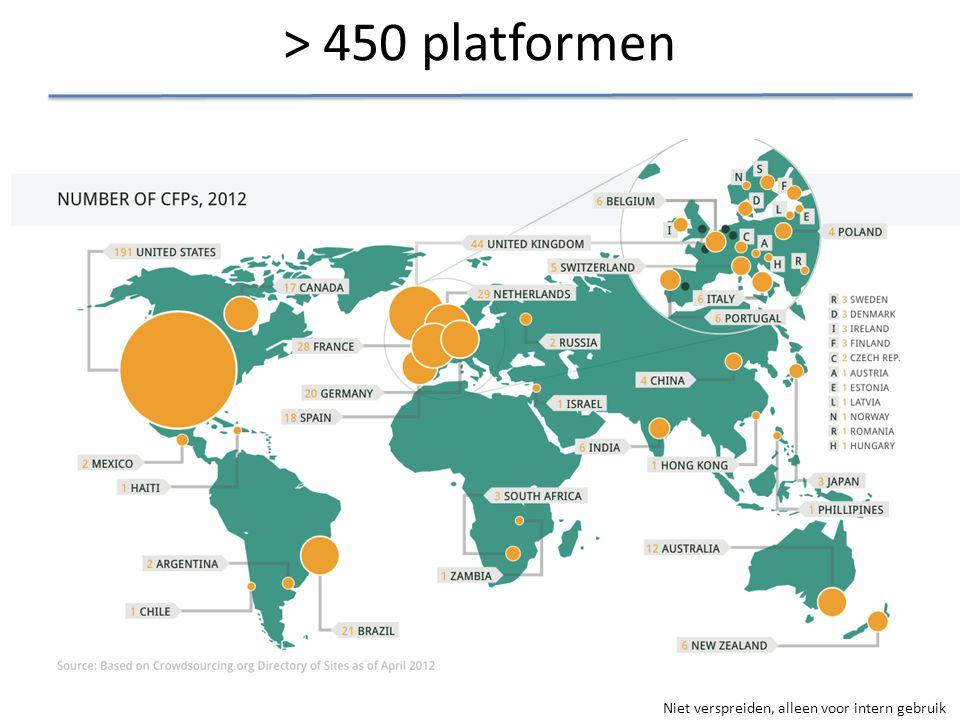 > 450 platformen