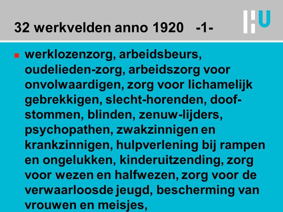 32 werkvelden anno 1920 -1-