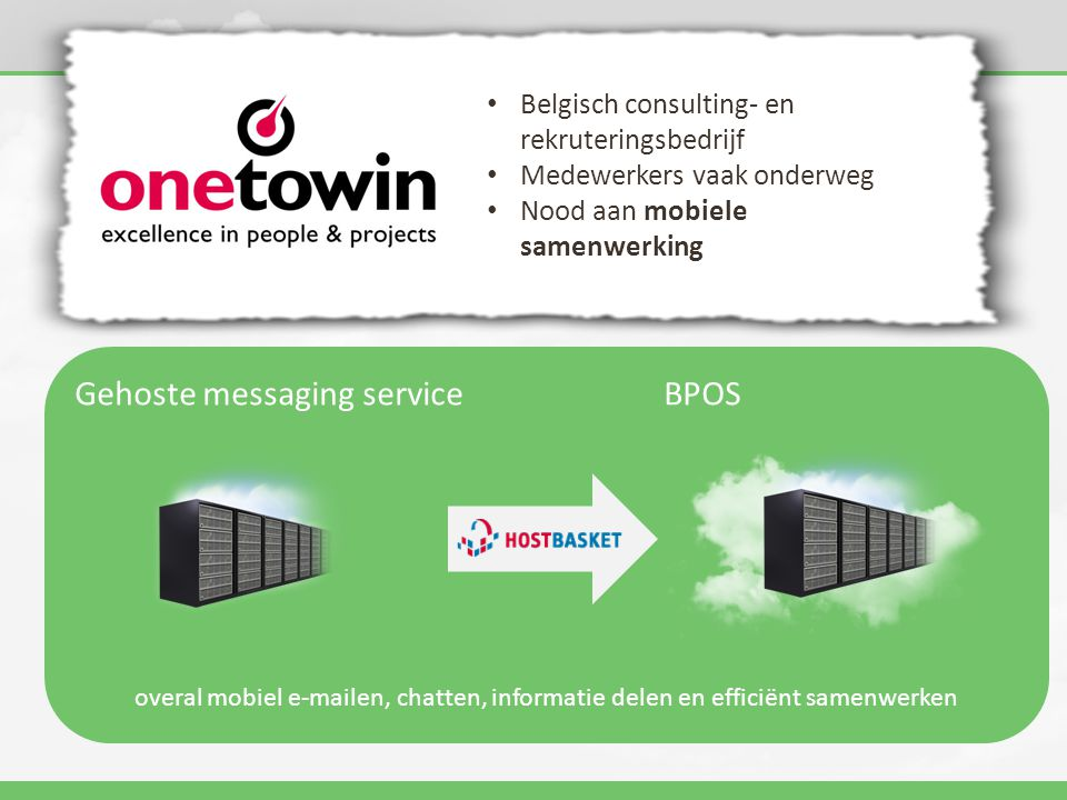 Gehoste messaging service BPOS