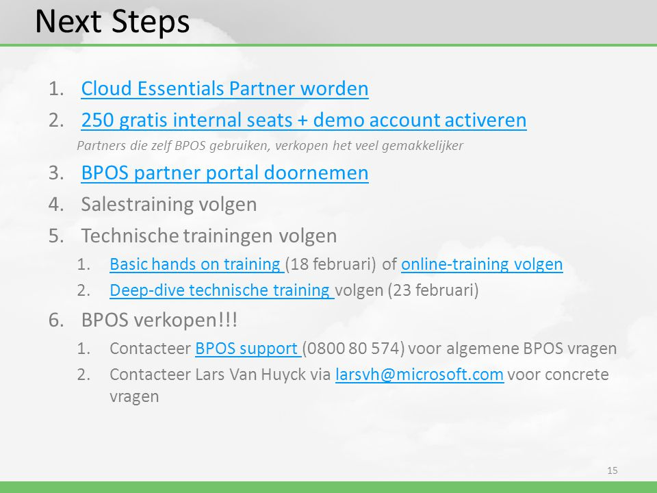 Next Steps Cloud Essentials Partner worden