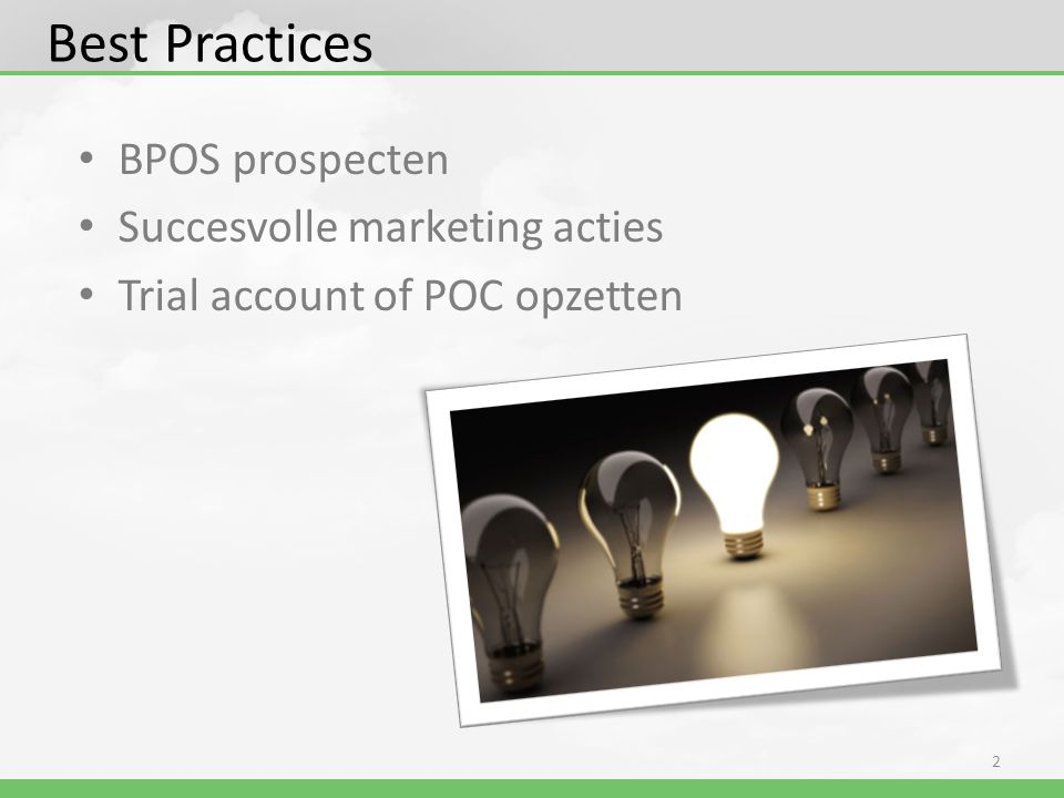 Best Practices BPOS prospecten Succesvolle marketing acties