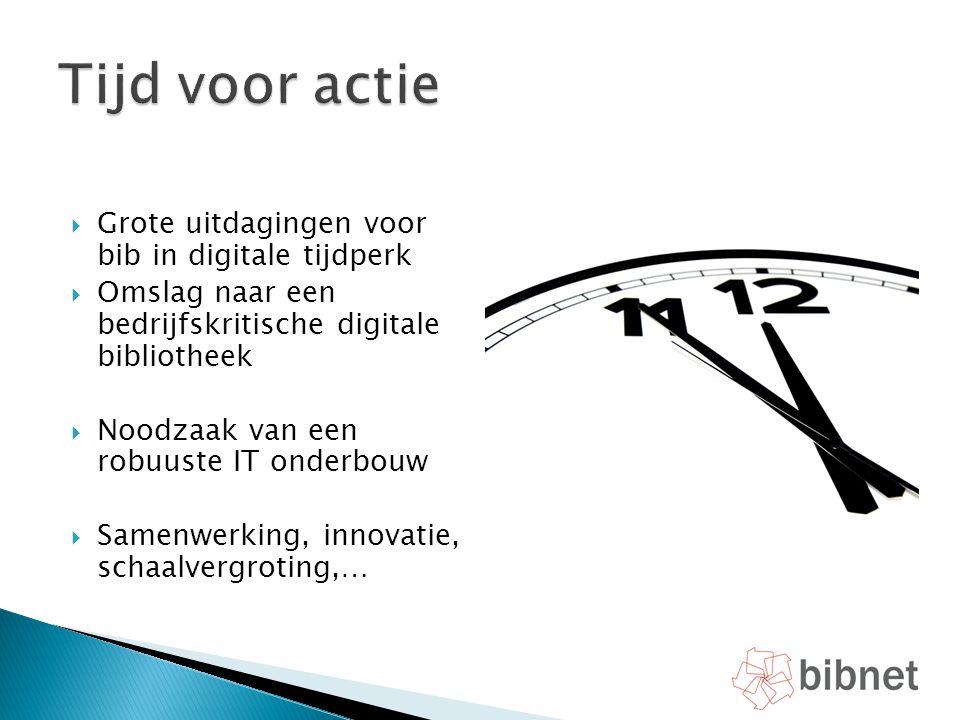 Tijd voor actie Grote uitdagingen voor bib in digitale tijdperk