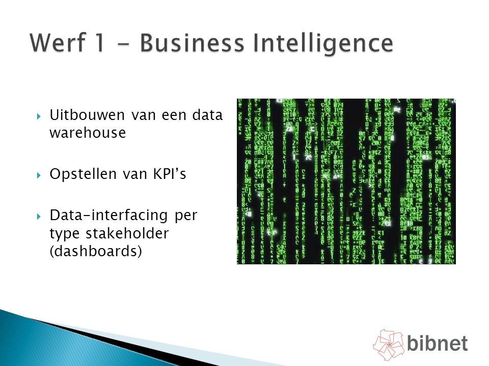 Werf 1 - Business Intelligence