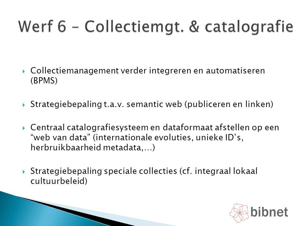 Werf 6 – Collectiemgt. & catalografie